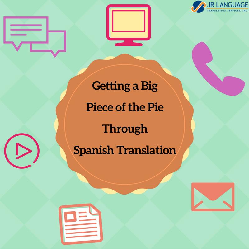 Getting A Big Piece Of The Pie Through Spanish Translation