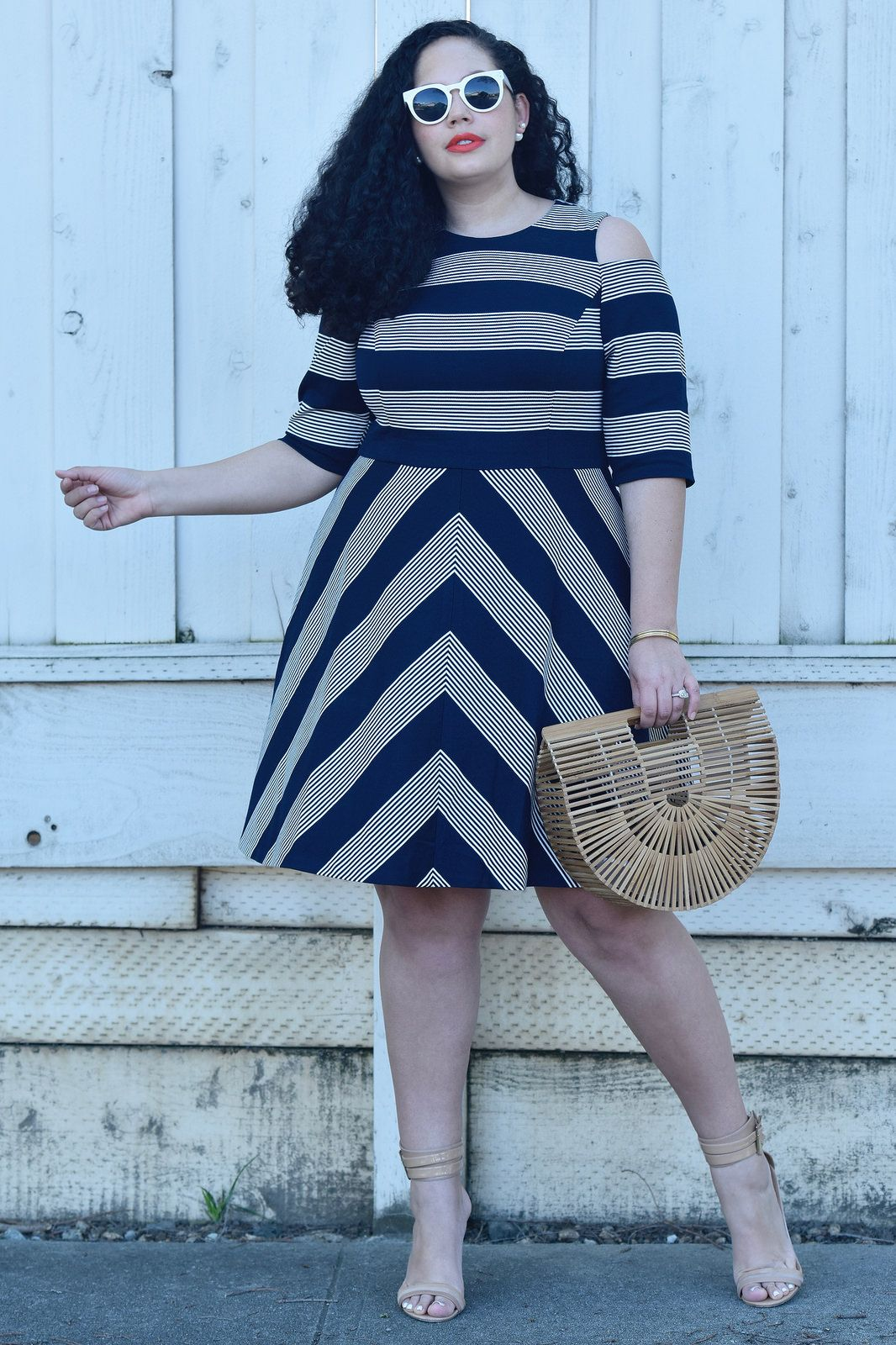 This dress proves stripes can be flattering via @GirlwithCurves