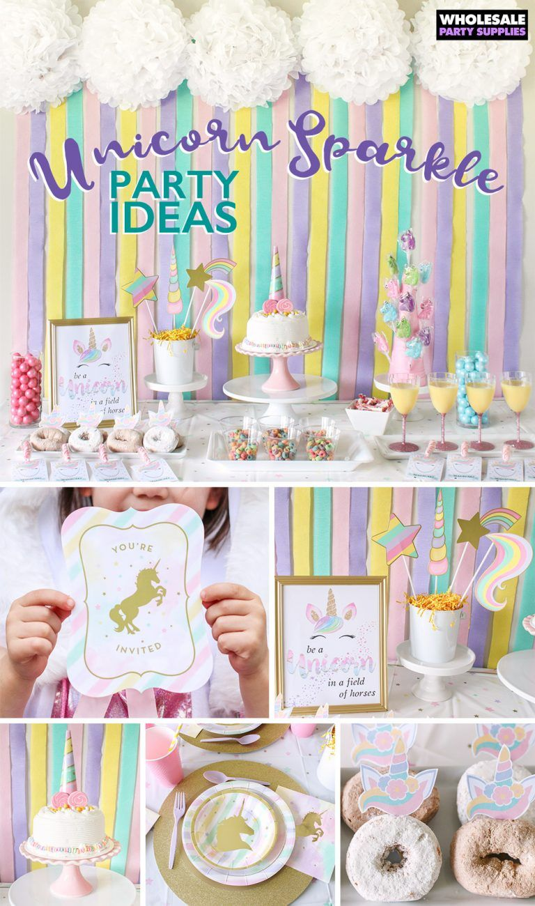 Unicorn Sparkle Party Ideas Sparkle Birthday Sparkle Birthday Party Sparkle Party
