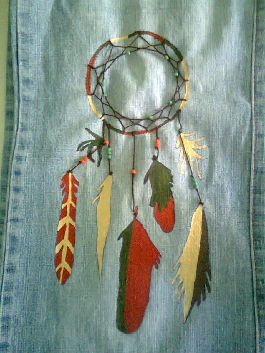 Pantalón vaquero decorado con pintura | Pantalones jean ...