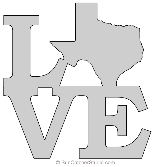 Texas Map Outline Printable State Shape Stencil Pattern Scroll Saw Patterns Free Scroll Saw Patterns Scroll Saw