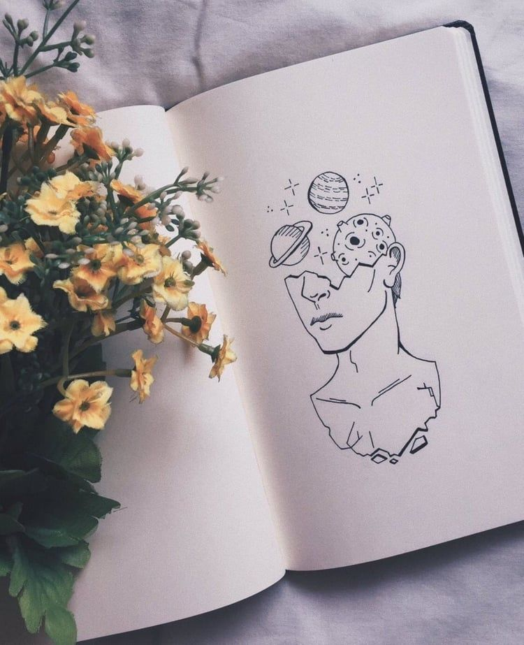 #aesthetic #draw #art #flowers #planet #book #drawing