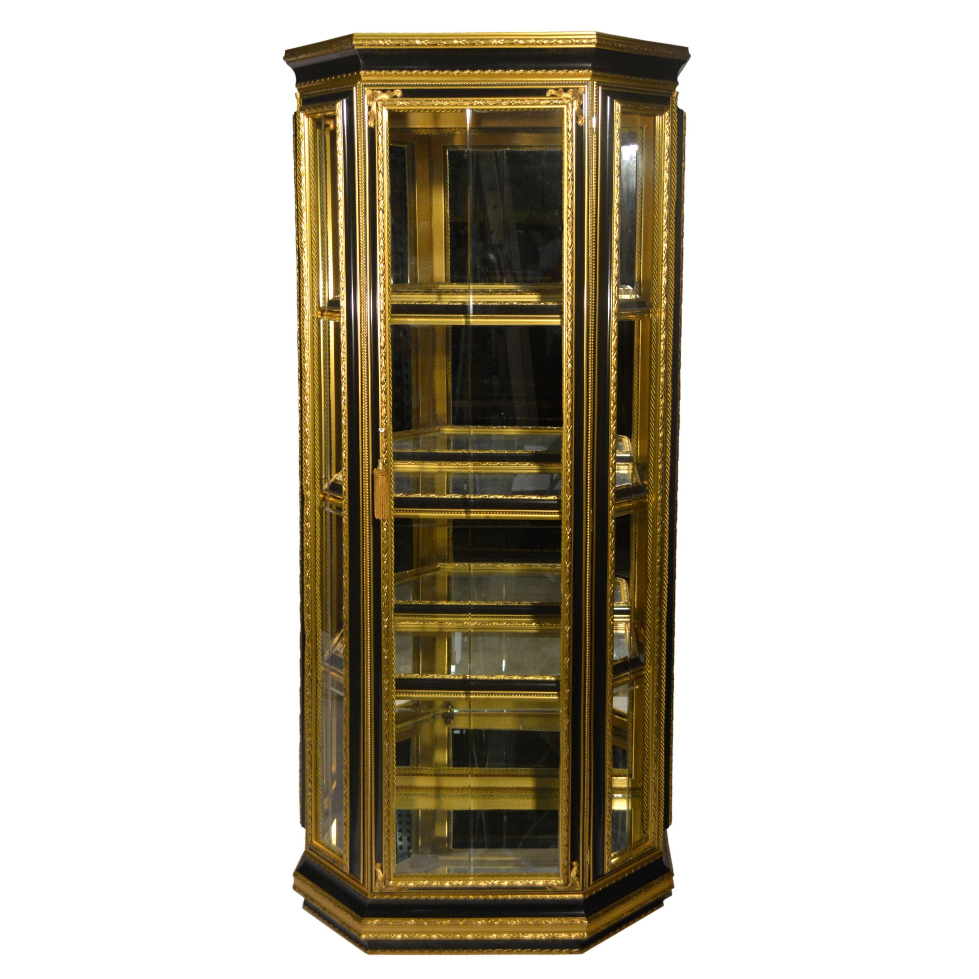 Three Star Authentic Hand made Single Door Gold Black Frame Italian