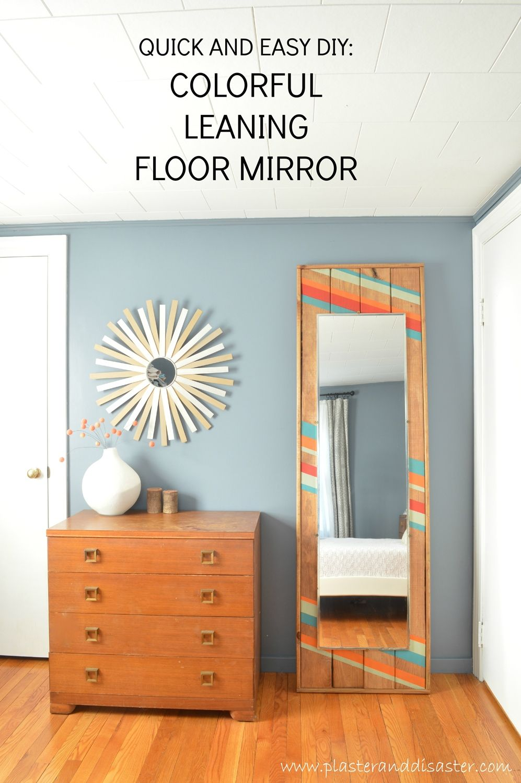 DIY Modern Floor Mirror   Wood mirror, Diy wood and Tutorials