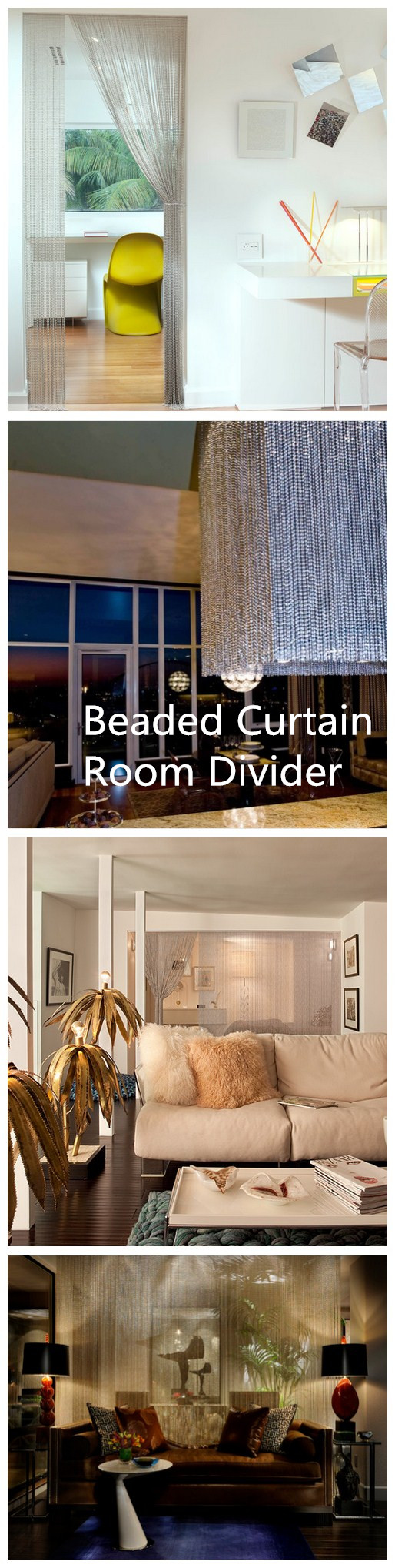 Beaded Curtain Room Divider In Interior Decoration,beaded Chain Door Screen,beaded  Chain Chandelier,wonderful Design By Beaded Chain.