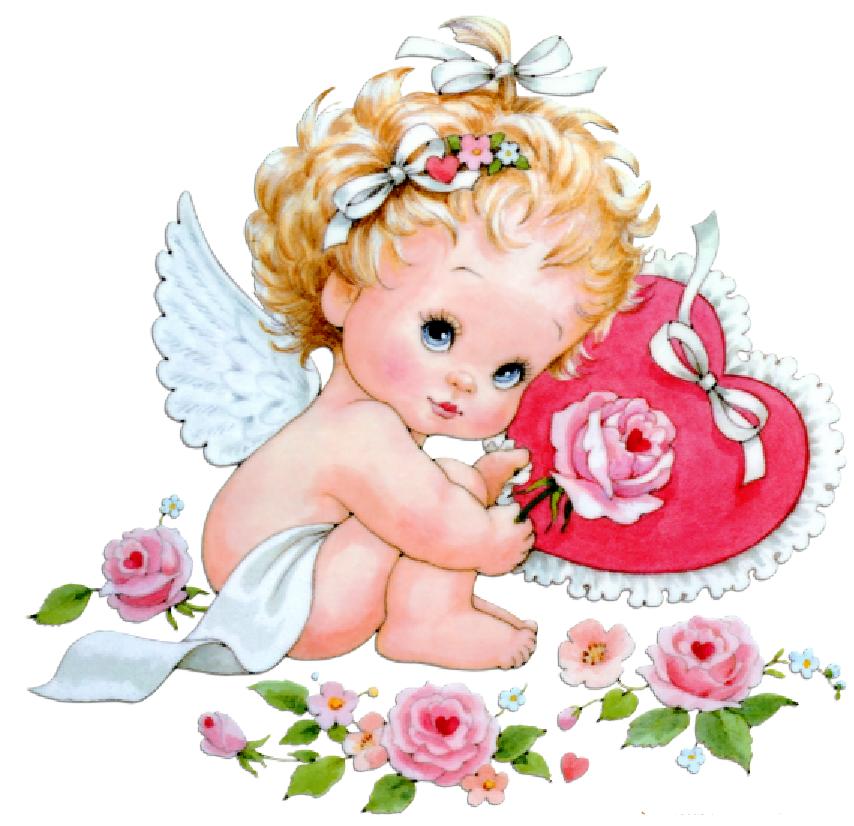 День рождения, картинки с ангелочком для девочки