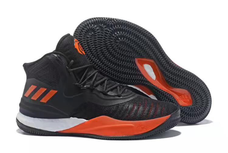 super popular 6a71f ffbe3 cheap new adidas d rose 8 royal black orange white mens basketball shoes on  sale 64f27