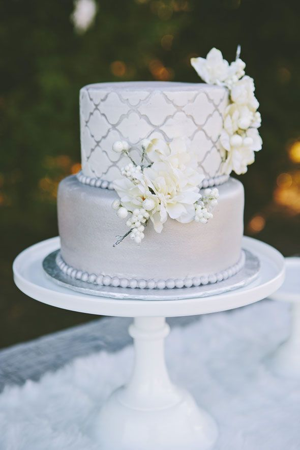 Gorgeous Winter Glam Party Cake Would Also Make The Perfect Wedding See