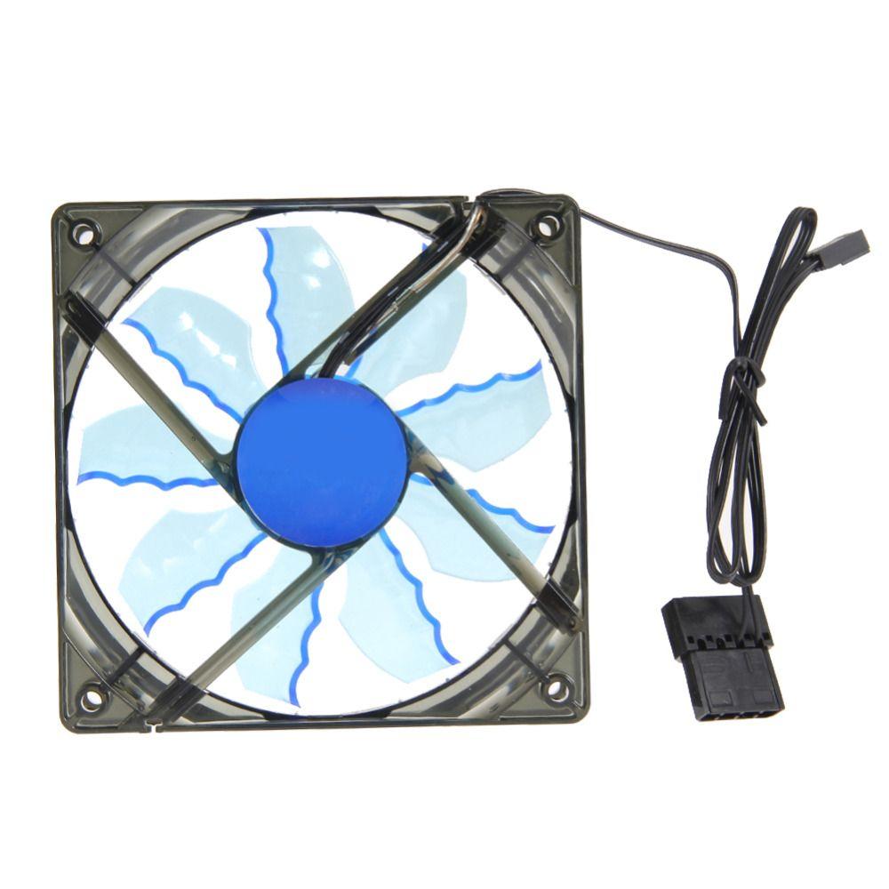 2017 High Quality 17 5 Db A 15 Blue Led Light Cpu Computer Cooling Fan Pc Clear Case Quad Heatsink With 4pcs Screws Blue Led Lights Clear Cases Pc Computer