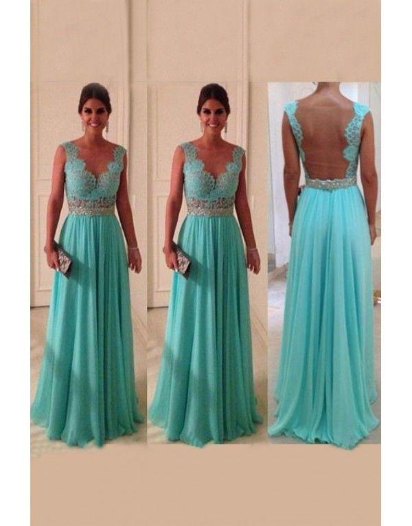 fbd2fbce0734 tyrkysové modré plesové společenské krajkované šaty Debra M - Hollywood  Style E-Shop