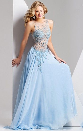 A fabulous pale blue prom dress from Tony Bowls Paris