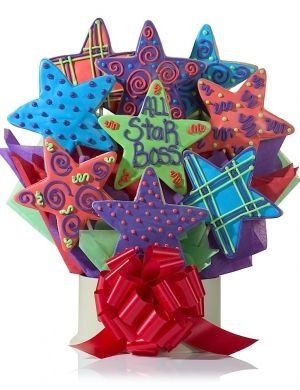 All Star Boss Bouquet Of Cookies Delete Valentine Cookies Flower Cookies Cookie Bouquet