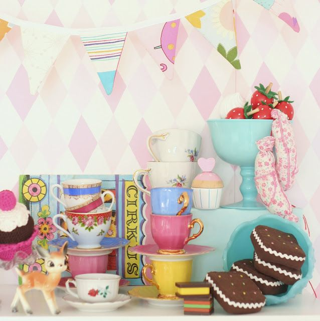 Bunting And Tea Cups Deer Ahh Life Is Perfect Pastel Home Decor Also Best St Birthday