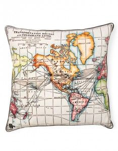 how cool are these map pillows! I think i\'ll need to find out how to ...