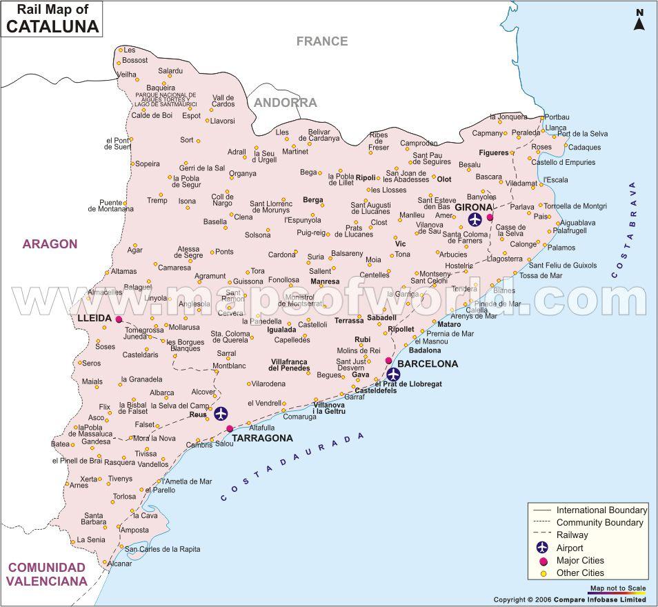 Cataluna Rail Network Map Spain Maps Pinterest Network rail