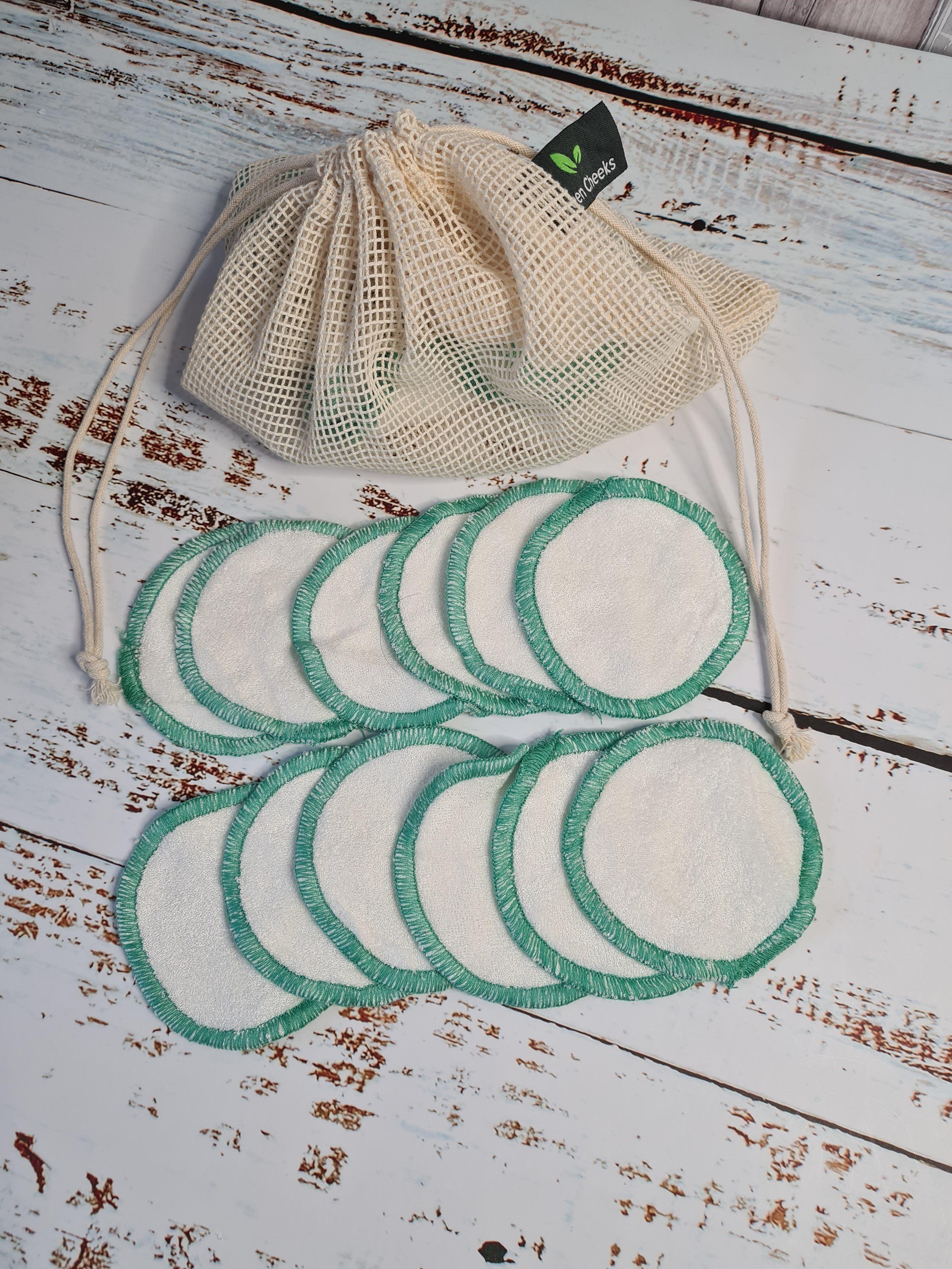 Waschbare Abschminkpads aus superweichem Bambusfrottee – 12er-Pack Tücher im Kulturbeutel
