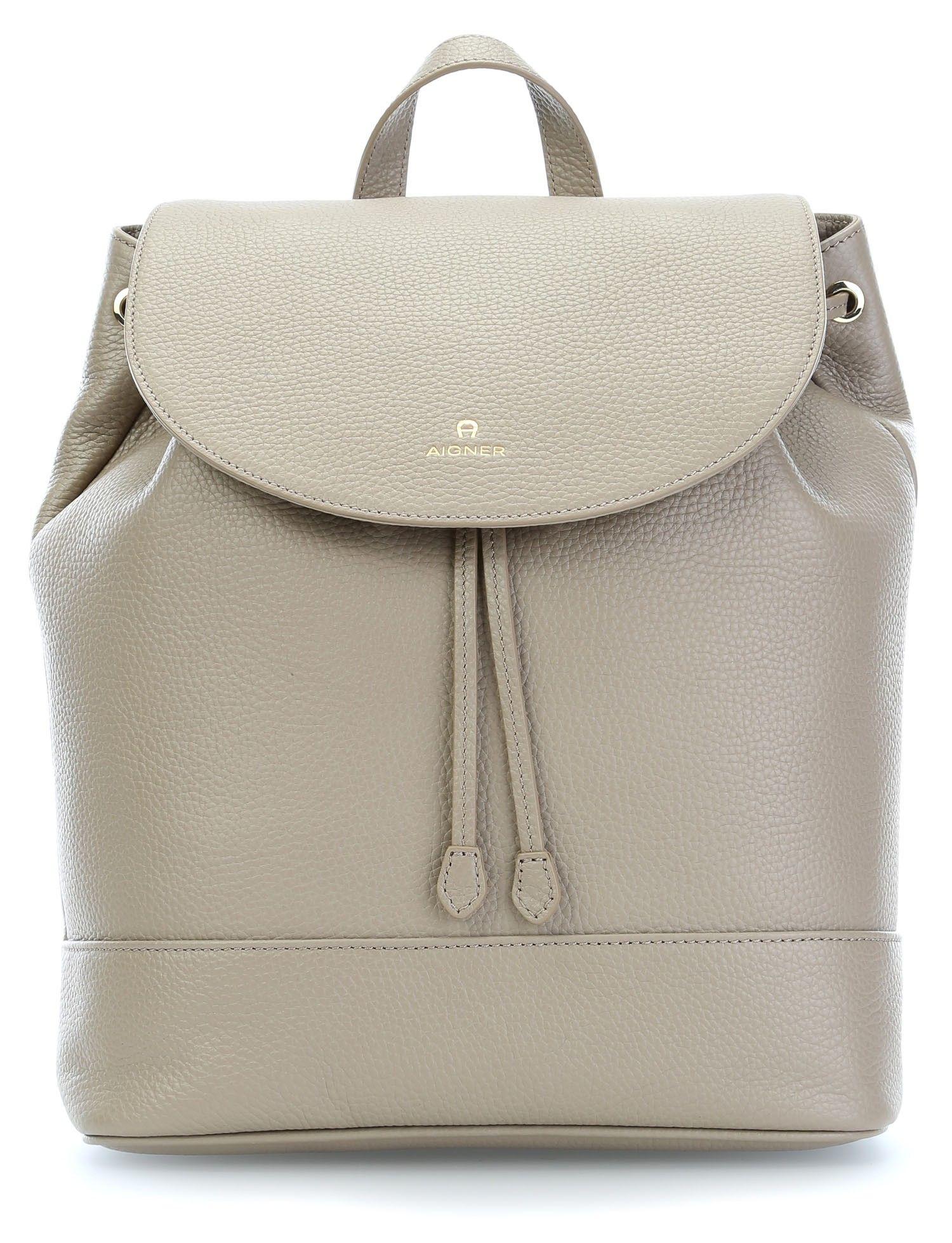 c0d9db4ae006c wardow.com -  backpack  Aigner Ivy Rucksack Leder taupe 35 cm Koffer