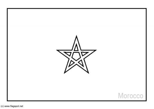 Coloring Page Flag Morocco And Lots Of Others Morocco Flag