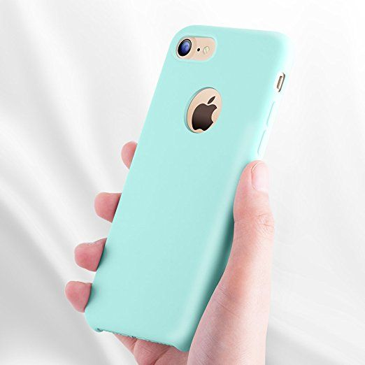 new concept 01fde cb4e3 Amazon.com: iPhone 7 Case, TORRAS [Love Series] Liquid Silicone Gel ...
