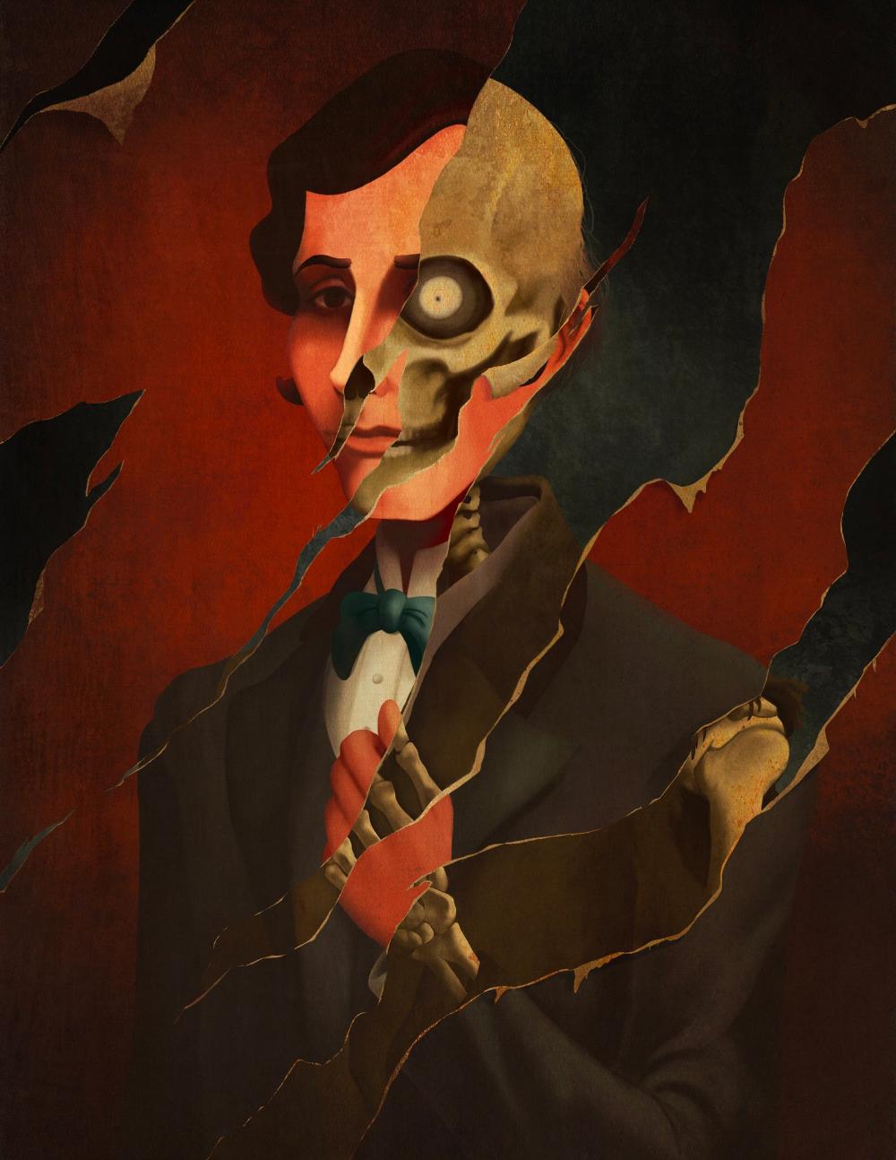 "1 Disney Haunted Mansion Medusa Painting 8.5/"" x 11/"" Poster"