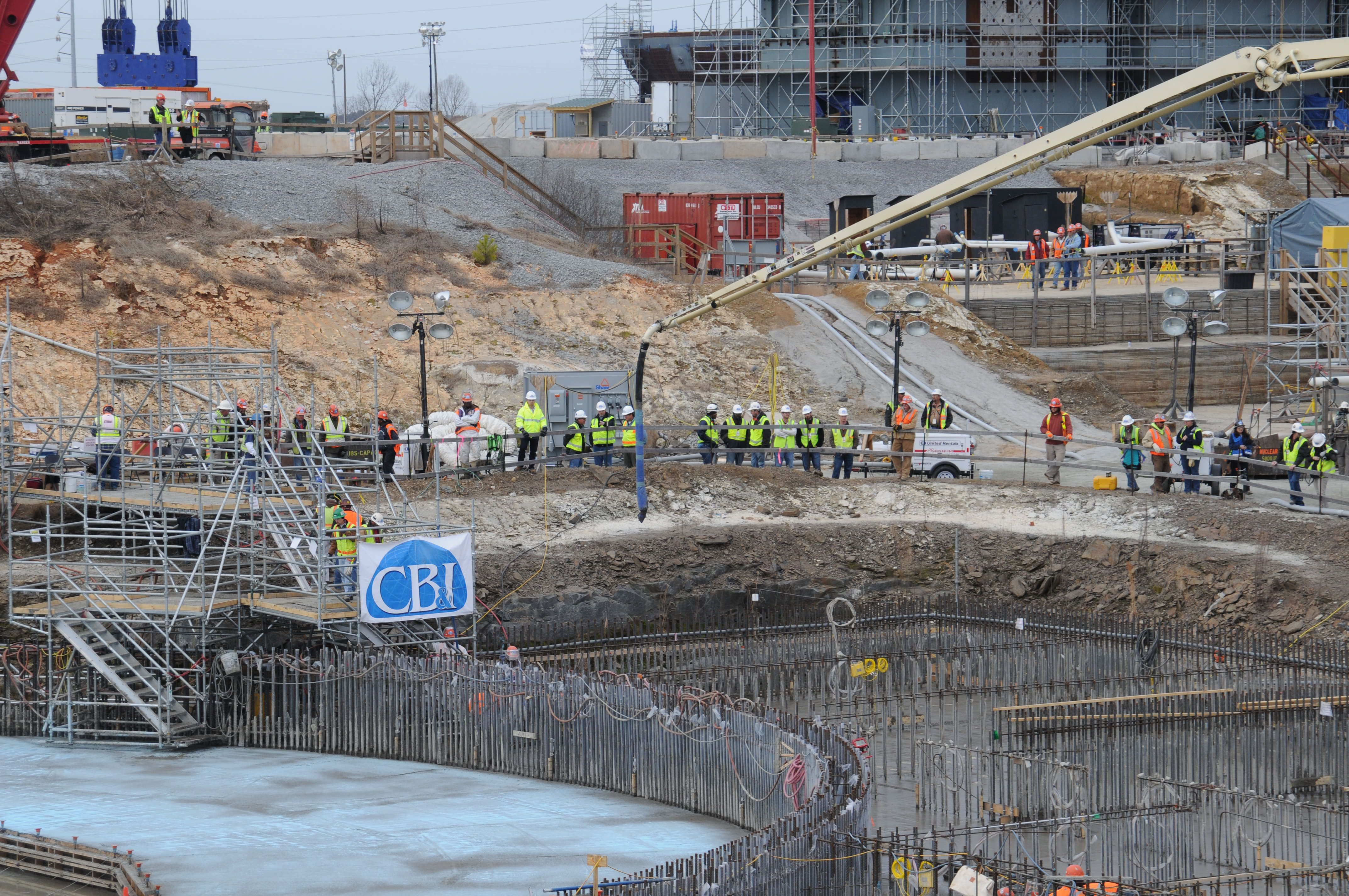 Crews Completed The 51 5 Hour Continuous Basemat Placement For V C Summer Unit 2 Nuclear Power Dominion South Carolina