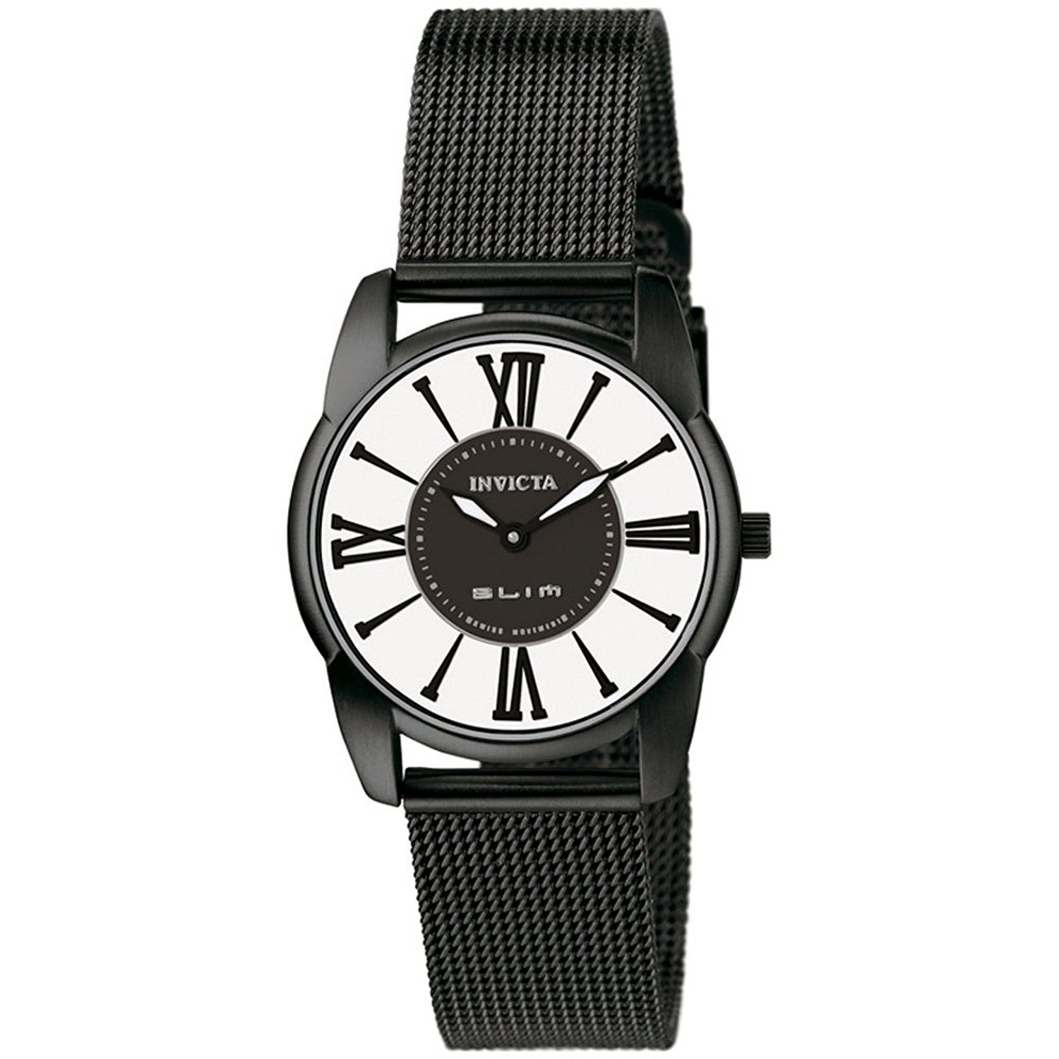 Invicta Women's 5350 Slim Collection Mesh Black Ion-Plated Stainless Steel Watch * You can get additional details at the image link.