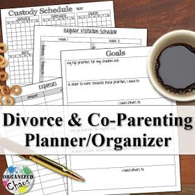 Mommy Monday: printable co-parenting / divorce planner