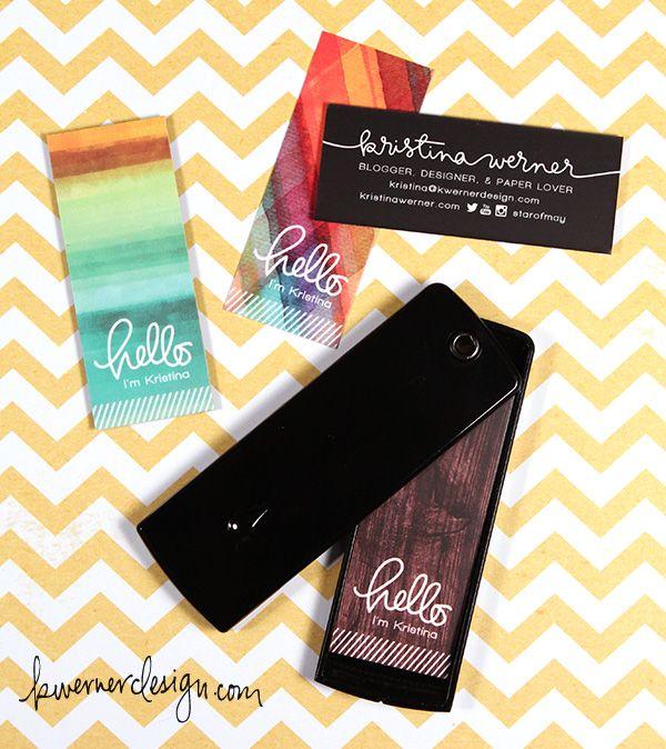 Moo Com Minicards Review Giveaway Kwernerdesign Blog Custom Business Cards Business Card Maker Mini Business Card