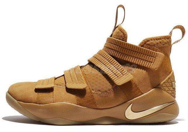 2017 2018 Daily Nike LeBron Soldier 11 Basketball Shoe 897647-700 Wheat For  Sale