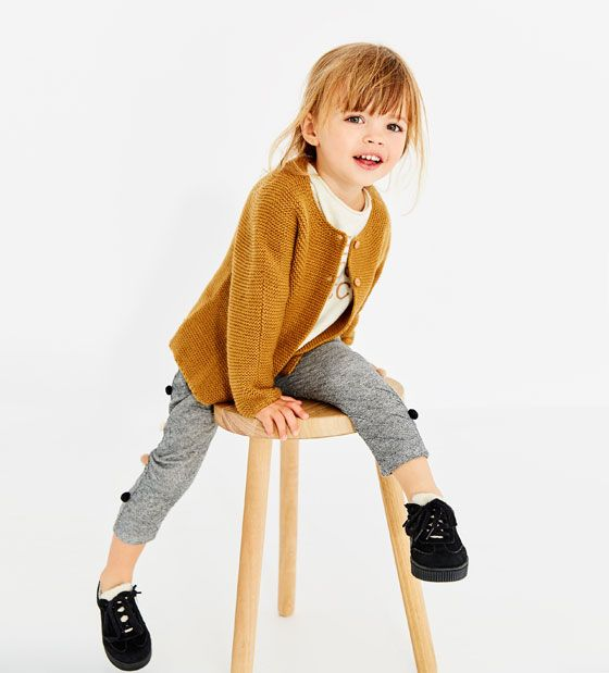 ZARA - KIDS - POMPOM TROUSERS