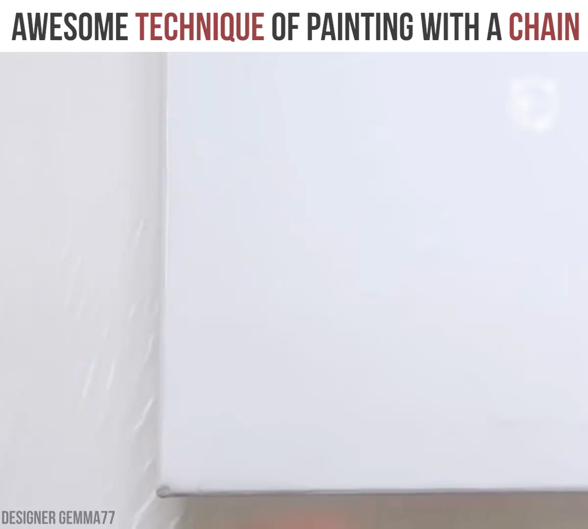 Photo of Awesome technique of painting with a chain