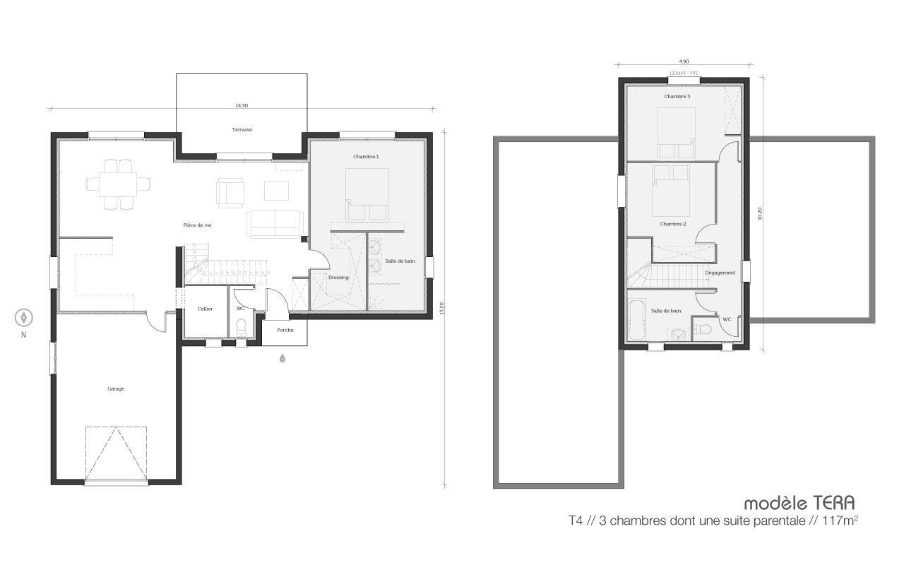 Projet De Construction : La Maisons Tera, Une Maison Contemporaine Et  Inédite   Plans Et