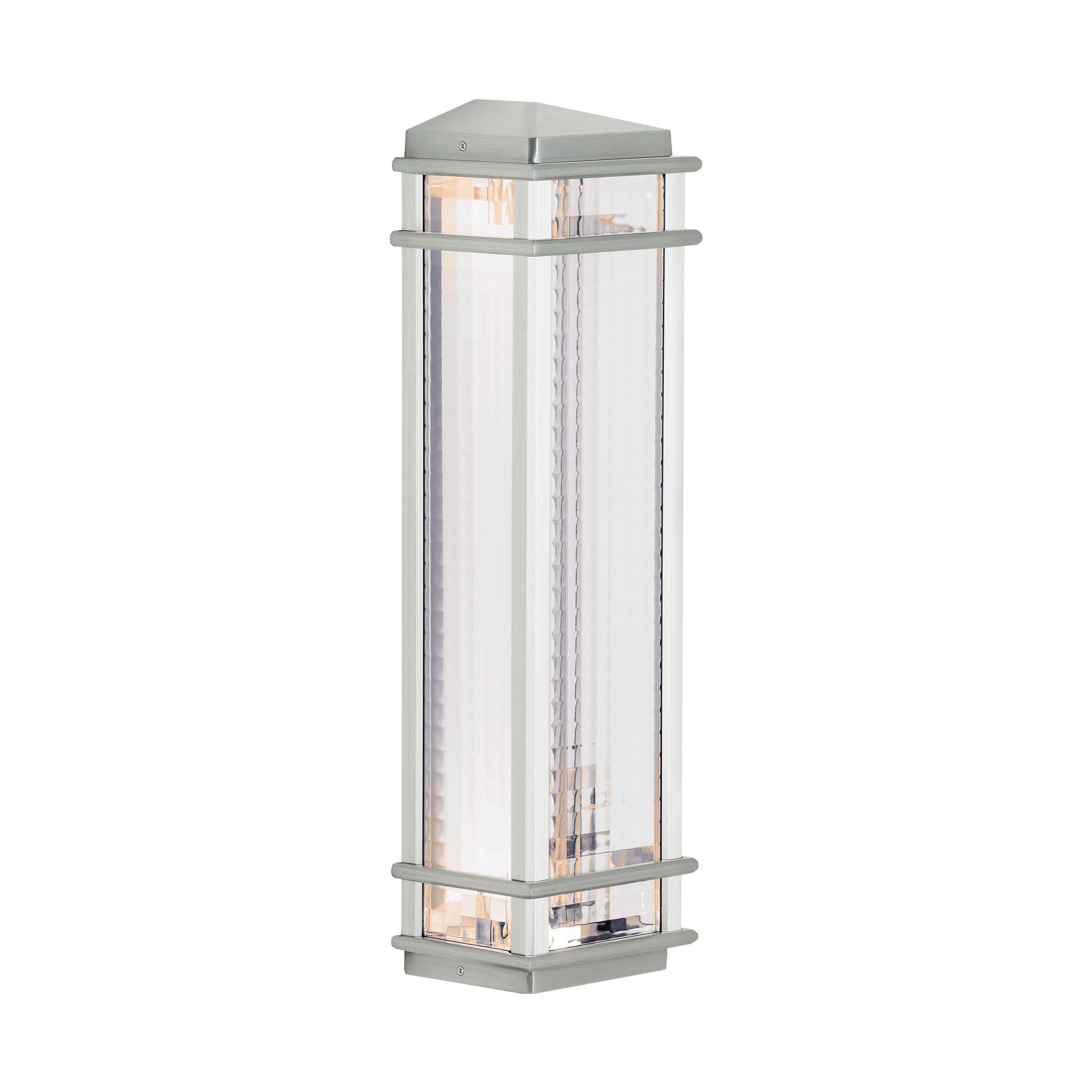 Feiss mission lodge light brushed aluminum wall lantern light