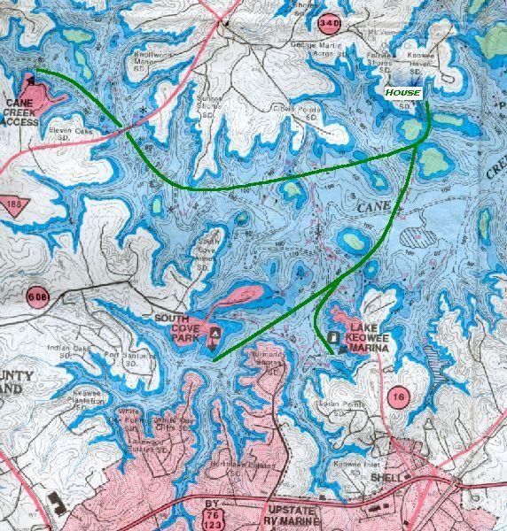 Lake Jocassee Map Map of Lake Jocassee Waterfalls | Lake Jocassee Map | South  Lake Jocassee Map
