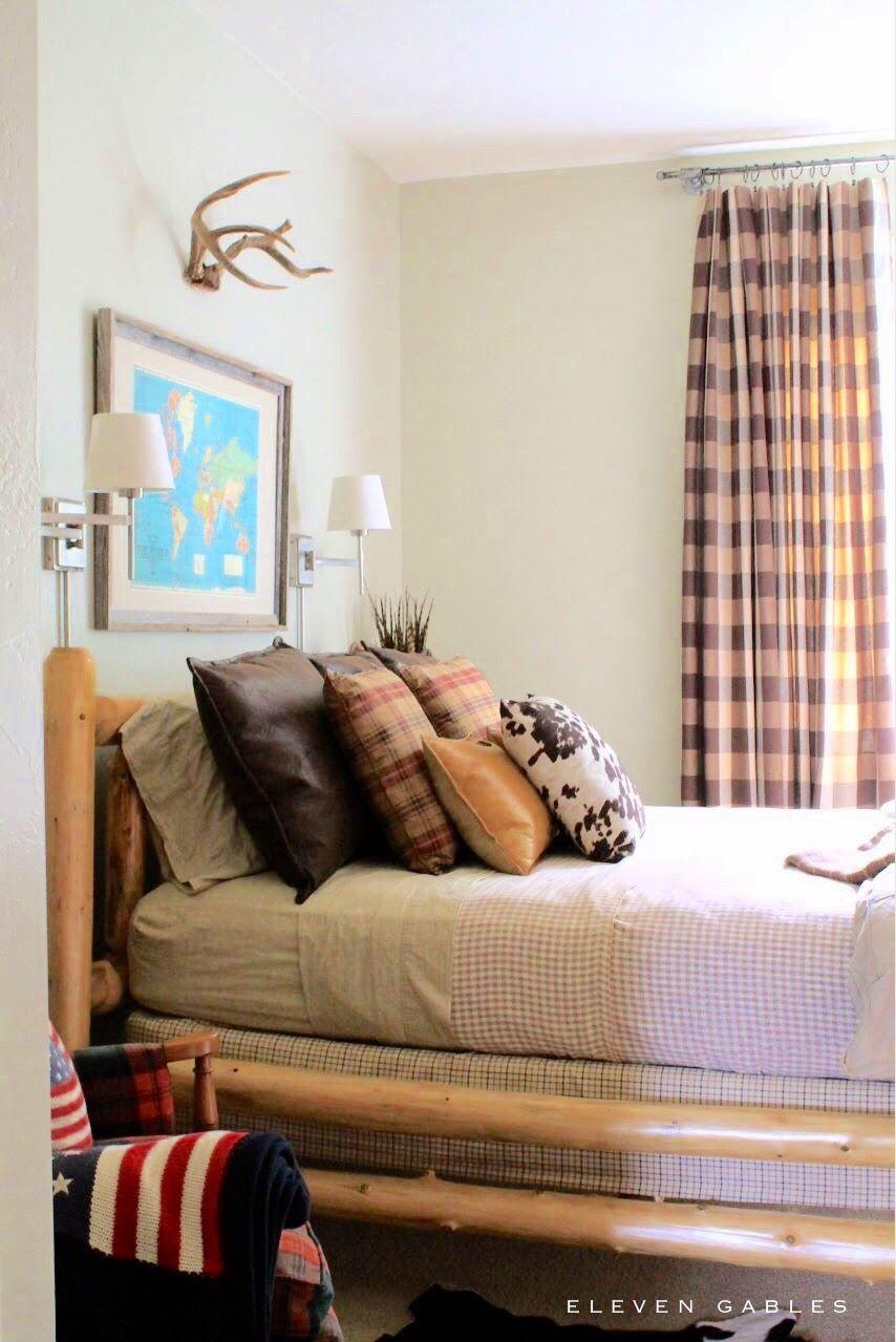 Tween Boys Room ralph lauren inspired teen boy bedroom | blogger home projects we