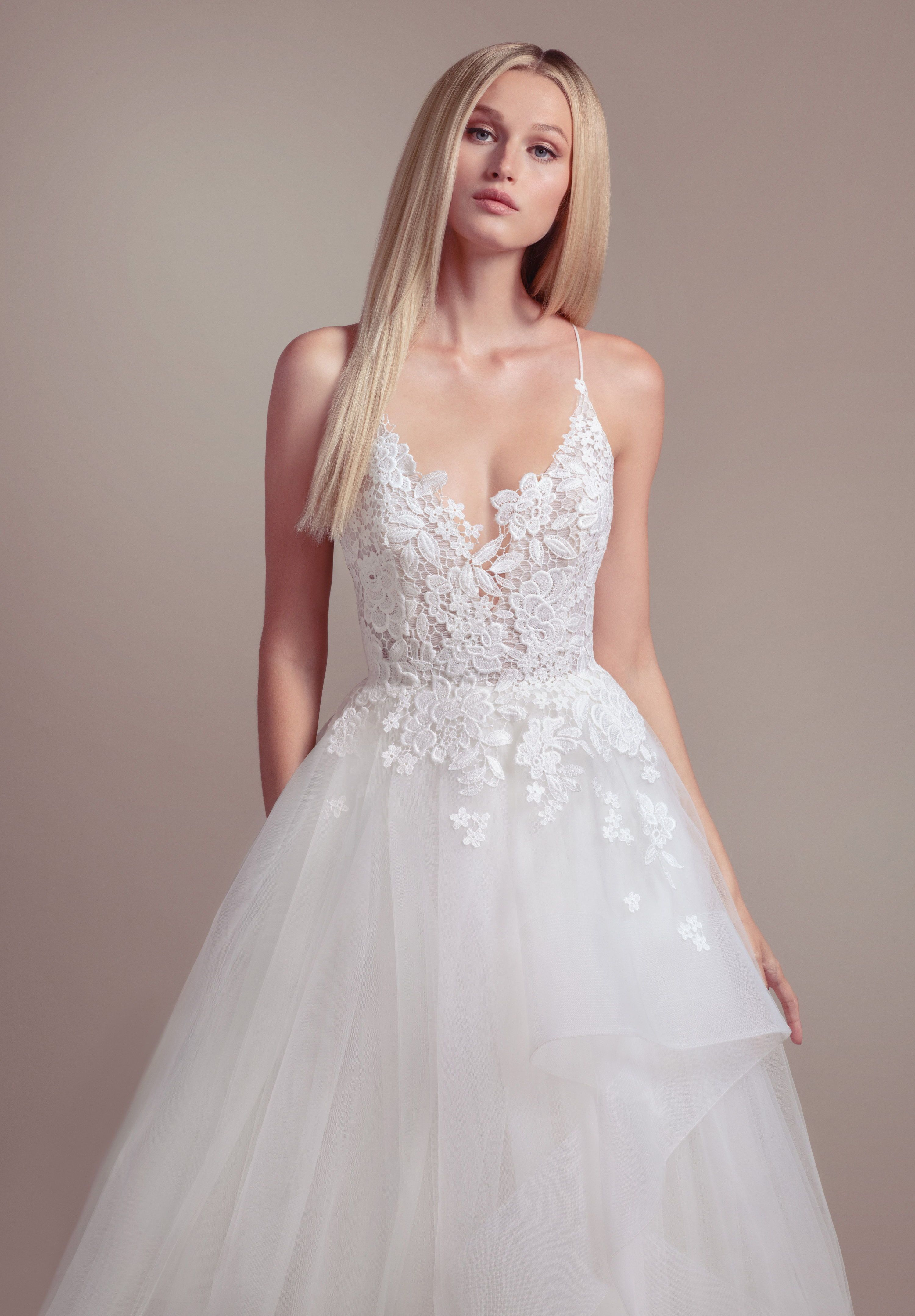 Pin By A Be Bridal Shop On The Dress In 2020 Wedding Dress Styles Spring Wedding Dress A Line Wedding Dress