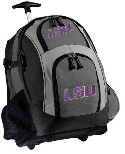 842f435d64fd LSU Tigers Rolling Backpack Deluxe Gray LSU - Our Best Backpacks ...