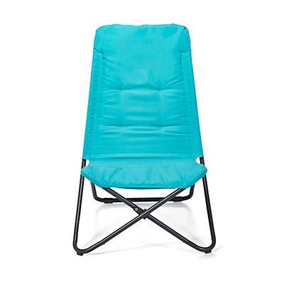 Lazy   Fauteuil de jardin relax pliant bleu turquoise en polyester ...