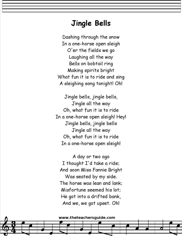 Resultado De Imagen Para Jingle Bells Letra En Ingles Pronunciacion Canciones Infantiles Preescolar Pronunciacion Letras De Canciones