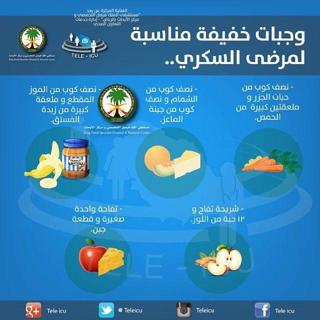 وجبات خفيفة لمرضى السكري Health And Wellness Center Health Food Health Info