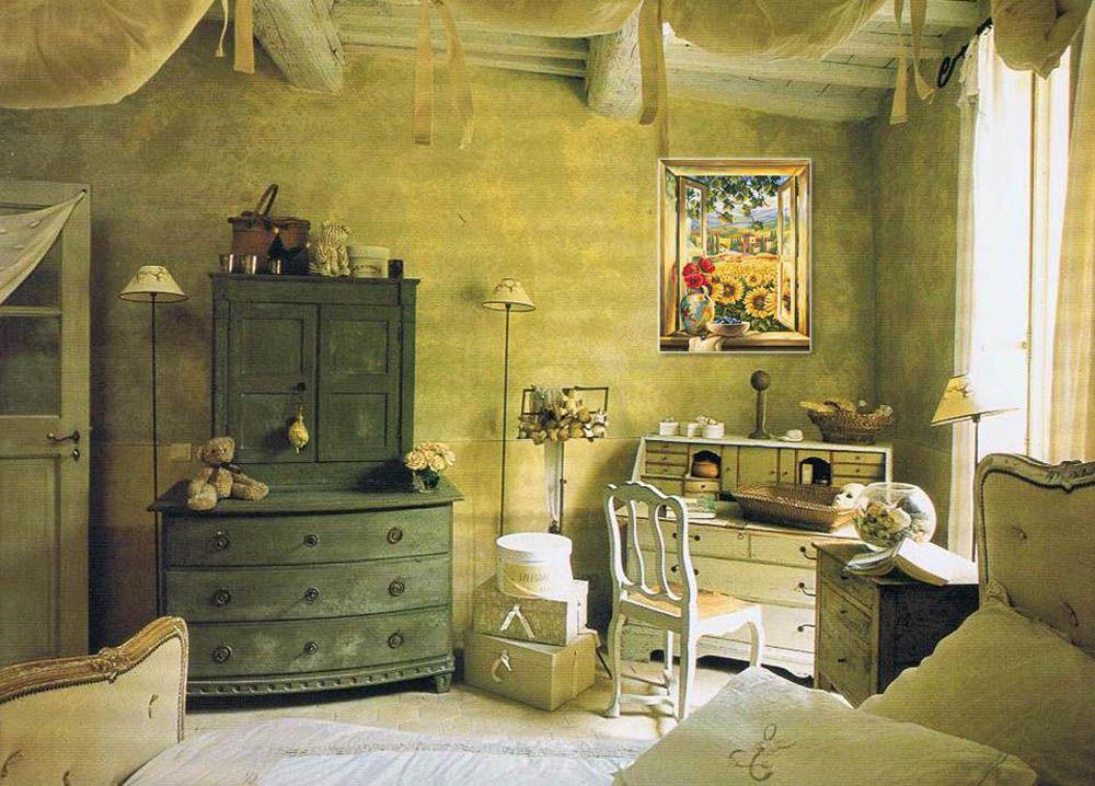 Картина по номерам «Вид из окна»   Прованс интерьер ...