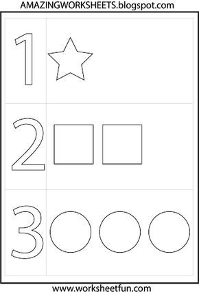 Preschool - Numbers and Shapes | teach | Pinterest | Free printable ...