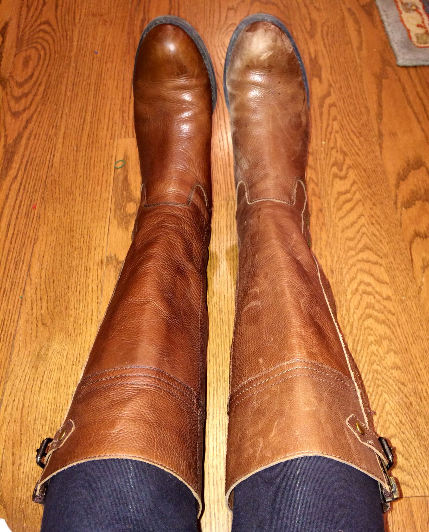 For worn, beat up or overly loved riding boots, use Annie Sloan wax to make them look brand new! Such a simple fix to make your favorite pair literally look as good as new.