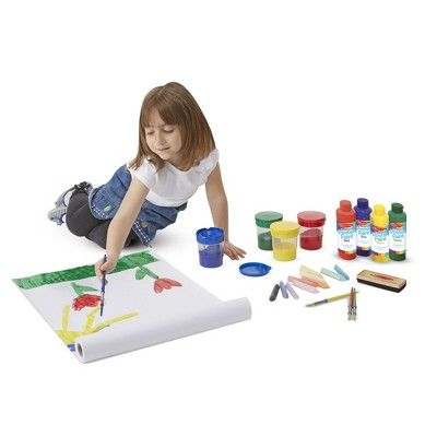Melissa Doug Easel Accessory Set Paint Cups Brushes