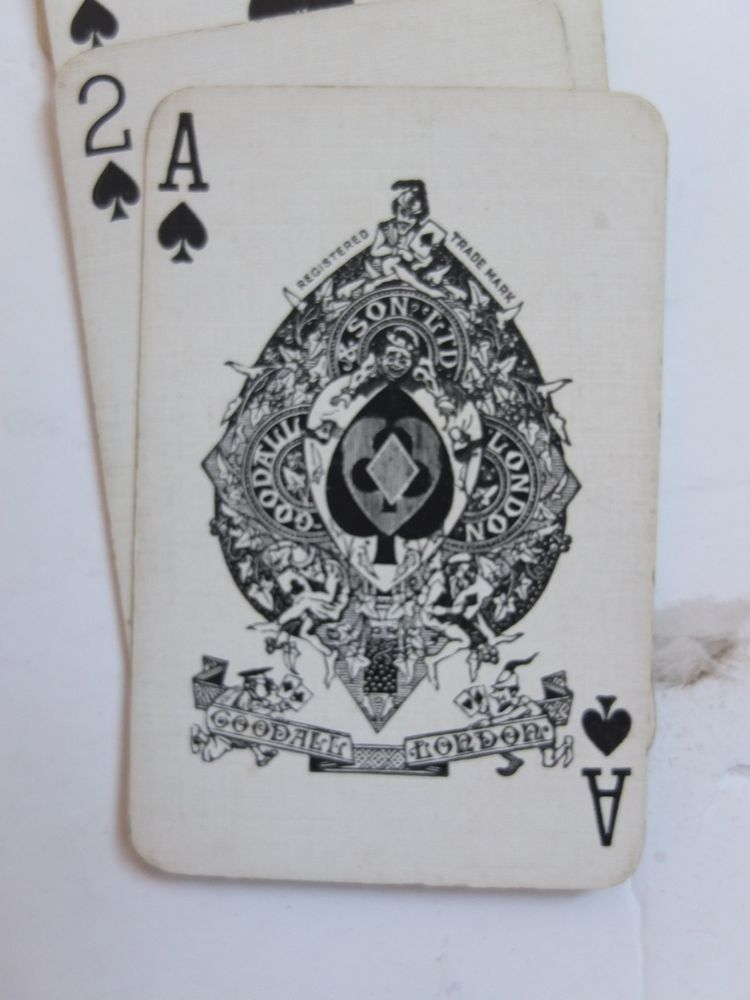 Goodall & Son London Initial Playing Cards S complete