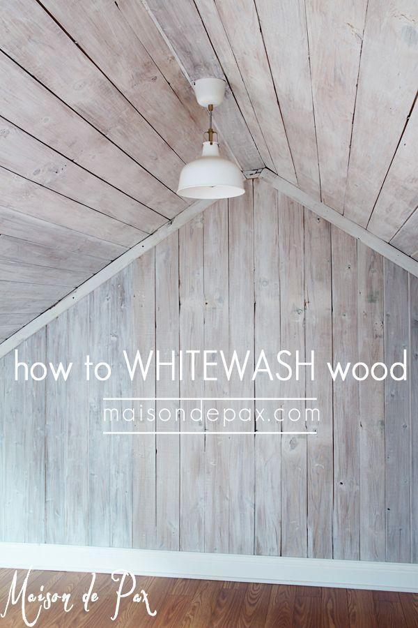 How To Plank A Wall Diy Shiplap Whitewash Wood Diy