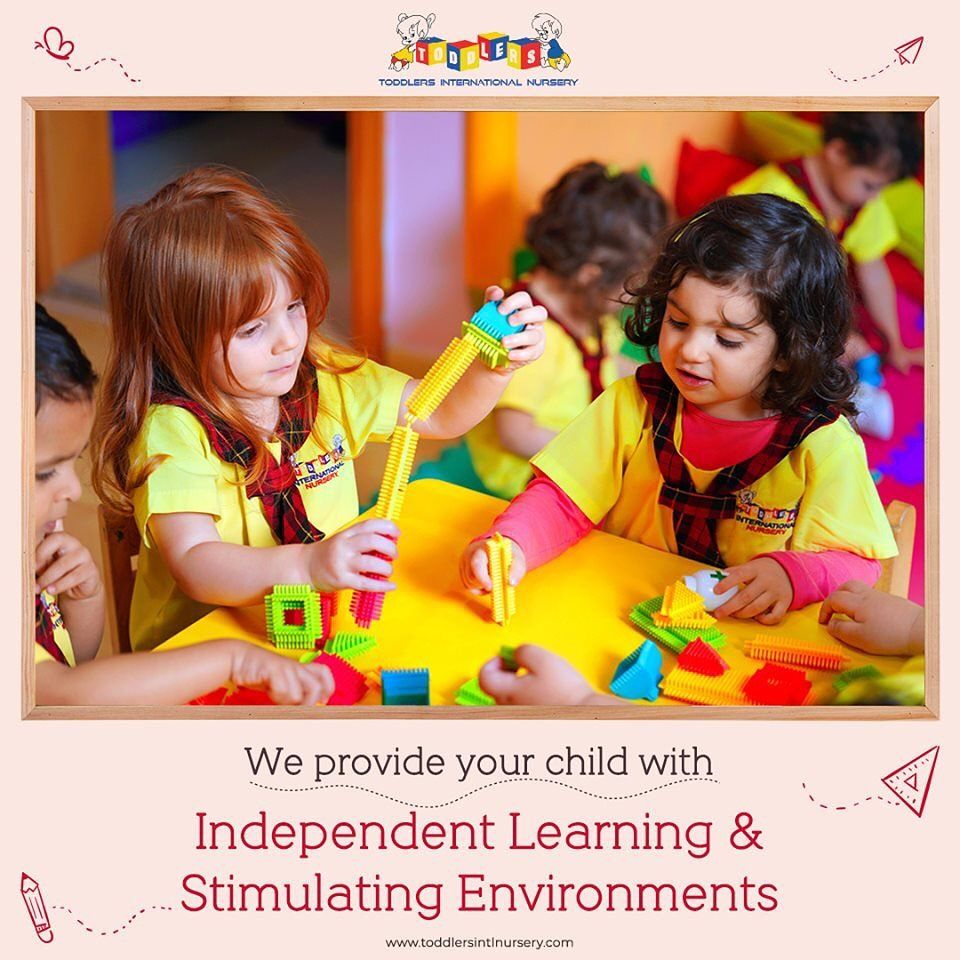 Toddlers International Nursery Offers A Wonderful Environment Where Your Children Can Learn And Grow Early Learning Playbased Learning Learning Through Play