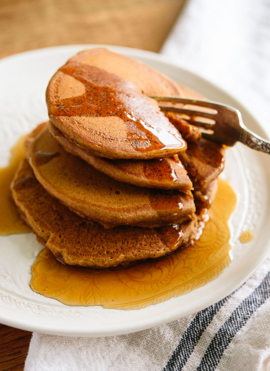 Whole Wheat Gingerbread Pancakes Cookie And Kate Recipe Gingerbread Pancakes Christmas Breakfast Recipe Sweet Breakfast