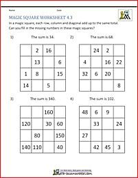 Magic Square Puzzle Fill In The Missing Numbers To Make A 4 By 4 Magic Square Magic Squares Math Magic Squares Math Square Puzzles