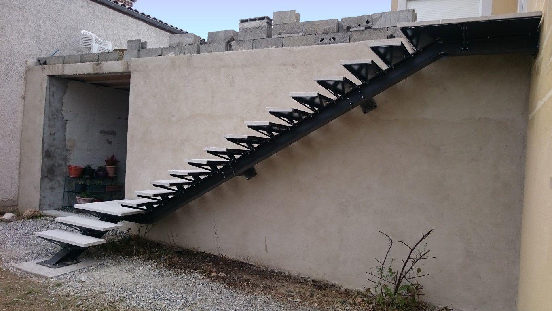 Escalier Limon Central Ipn Exterieur Escalier En Kit Escalier